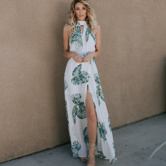 95d73f4bc79 Dress Forum Desert Palms Maxi Dress - Ivory